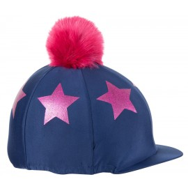Glitter Star Hat Cover - Navy/Pink