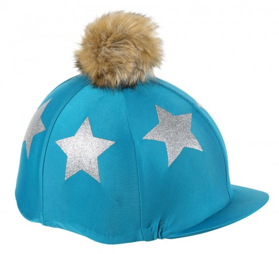 Glitter Star Hat Cover - Teal/Silver image #