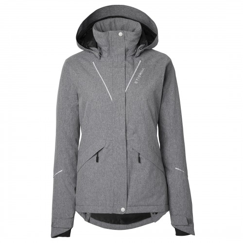 Stierna Stella Winter Jacket - Grey Melange image #