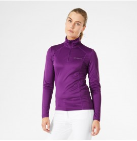 Halo Lilac Half Zip Long Sleeve Top