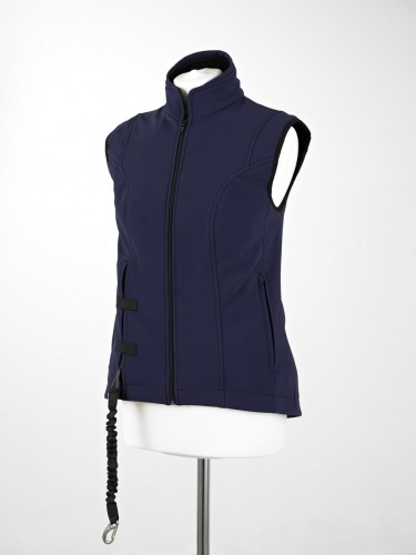 Helite Air shell Gilet in blue.