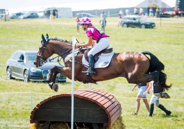 Holly Horton on Cookie coming 10th at Barbury 2* in a Treehouse silk and body protector! Photo credit to Steph Burch photography.