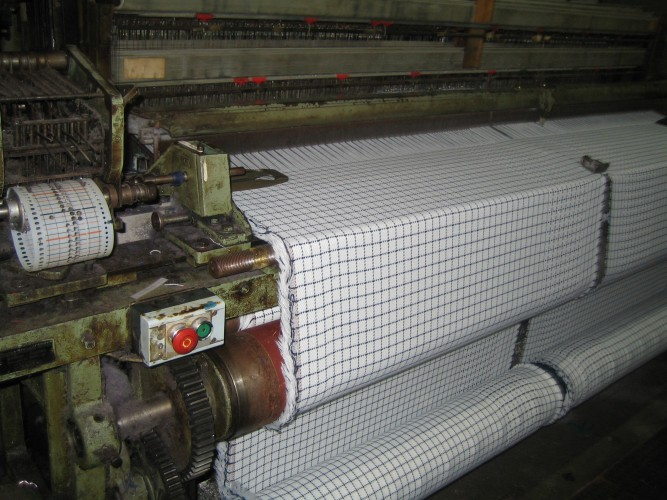 The fabric in production in Leicestershire