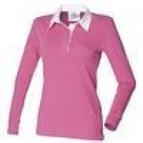 Hot Pink Ladies Rugby Shirt