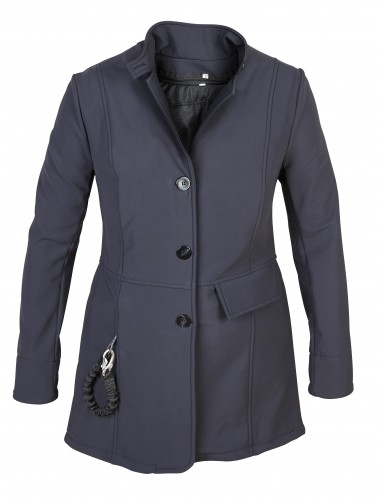 Hunt Coat front in navy (midnight blue)