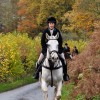 Theresa from Treehouse in her Helite Hunt Coat and Bostock Stirrups