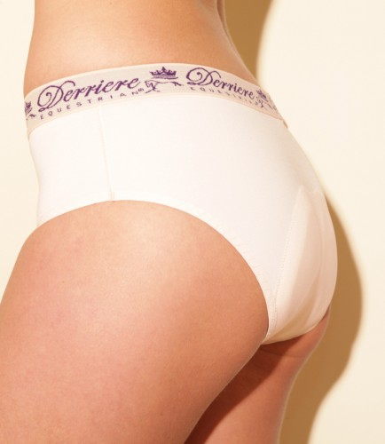 Derriere Equestrian Ladies Padded Panty in white