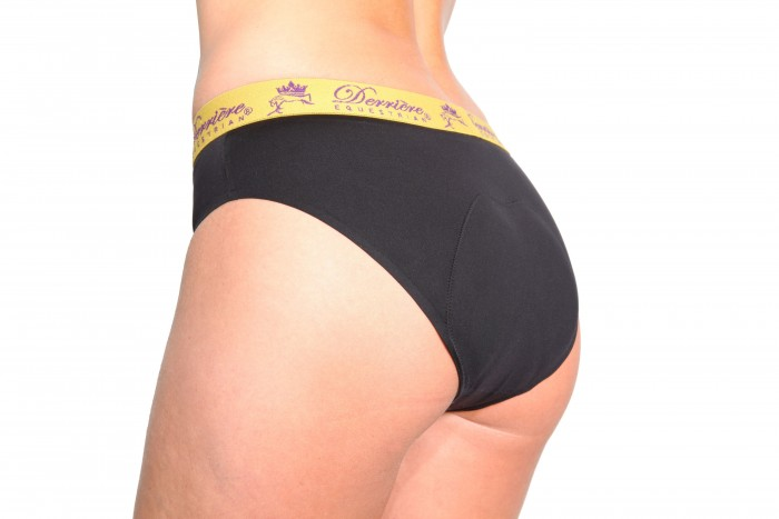Derriere Equestrian Ladies Padded Panty in black