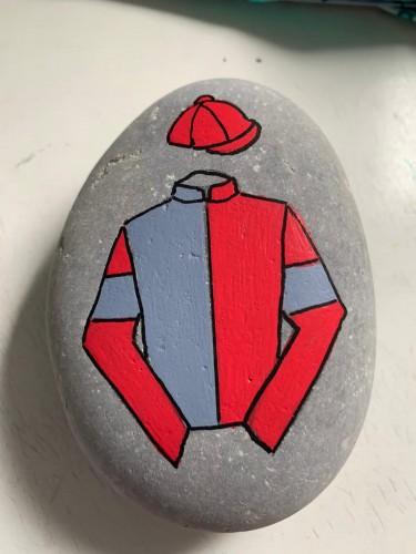 Bespoke Racing Colours Medium Size Stone