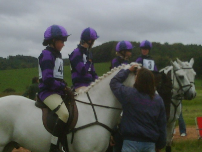 The Cottesmore Pony Club Team at the National Novice Championships 2009