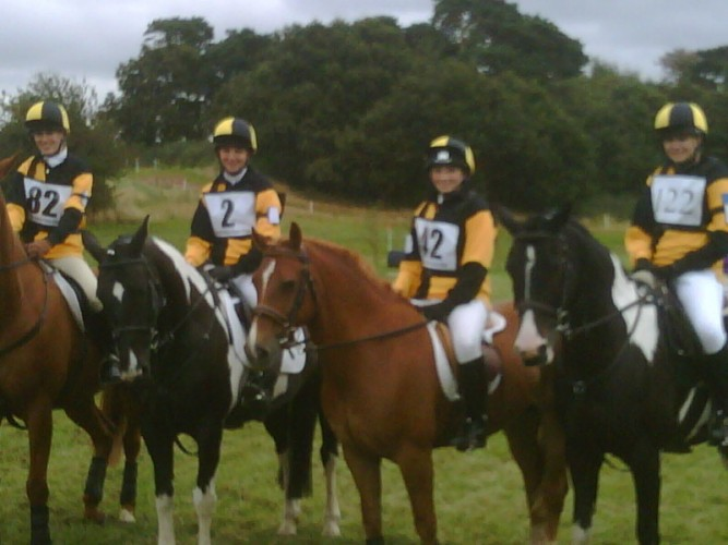 The Dinas Powys Pony Club Team at the National Novice PC Championships 2009