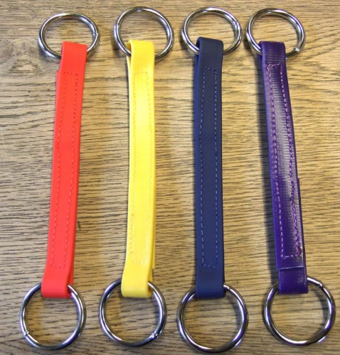 Synthetic Irish Martingales in red, yellow, blue and purple