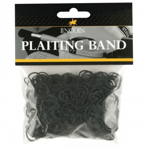 Lincoln Plaiting Bands in black