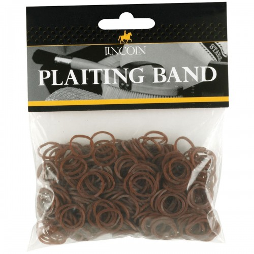 Lincoln Plaiting Bands in Brown