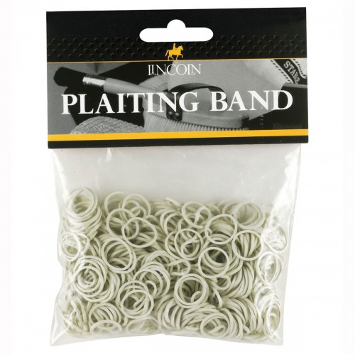 Lincoln Plaiting Bands in White