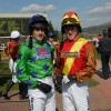 Ruby Walsh and Tony McCoy wearing MacWet gloves.