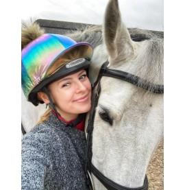 Rainbow Metallic Hat cover with @elphic.event.ponies