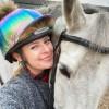 Rainbow Metallic Hat cover with @elphic.event.ponies