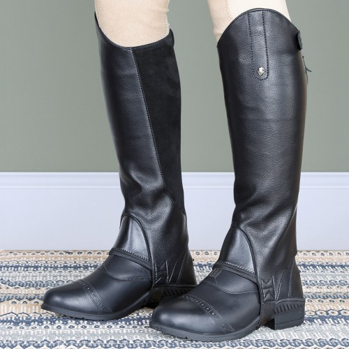 Moretta Black Synthetic Gaiters/Chaps