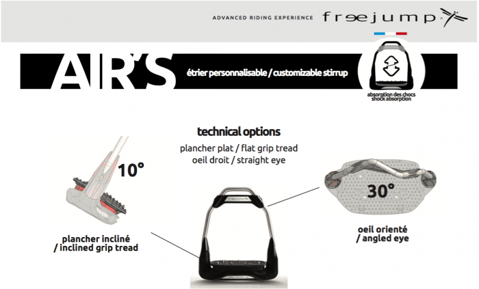 Technical Options AirS Stirrups by Freejump