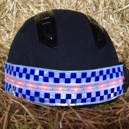 POLITE LED Rechargeable Flashing Hat Band by Equisafety
