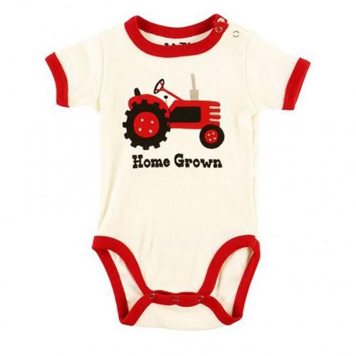 LazyOne Boys Home Grown Babygrow Vest image #