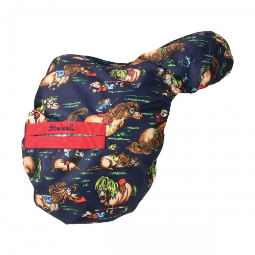 Thelwell Saddle Cover Navy/Red