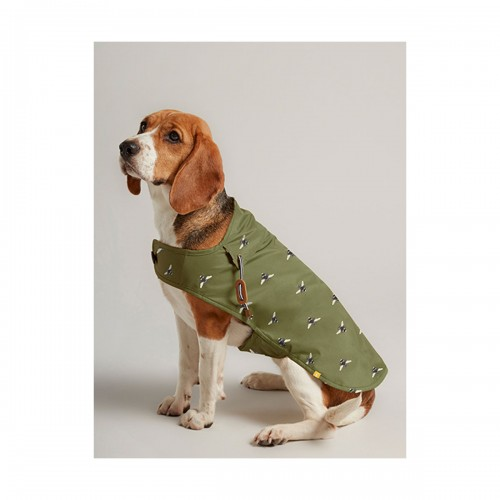 Joules Dog Water Resistant Raincoat - Olive Bee image #