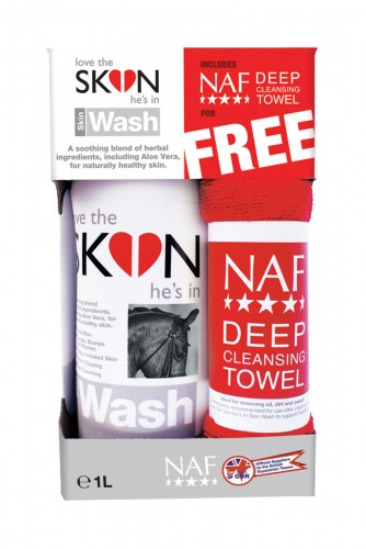 NAF Love The SKIN He's In Skin Wash with Free NAF Deep Cleansing Towel image #