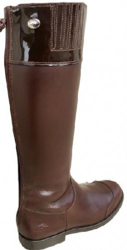Premium Brown Patent top boots