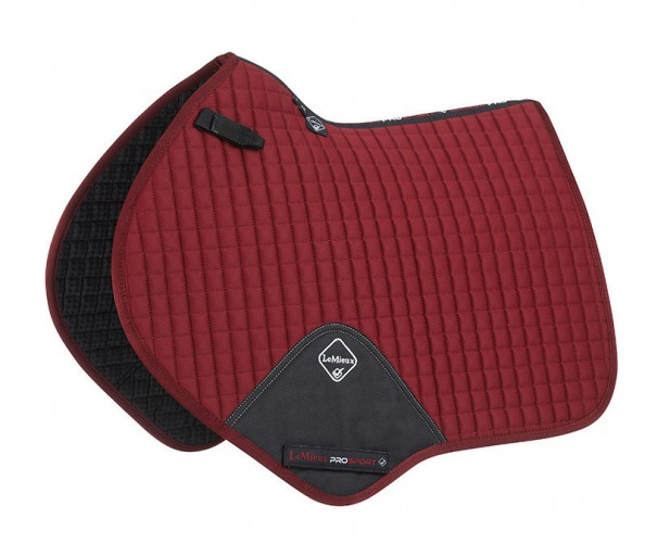 LeMieux Close Contatct Saddlecloth burgundy