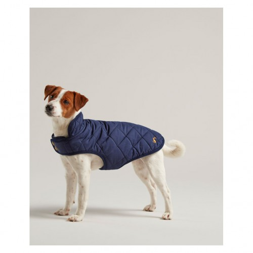 Joules Navy Small Dog Coat