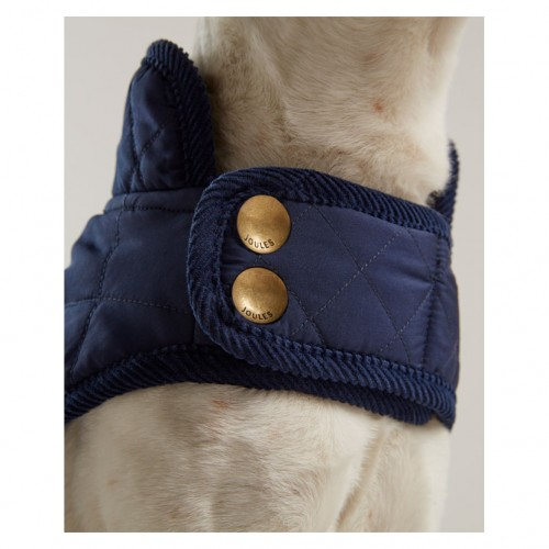 Joules Navy Quilted Dog Coat image #