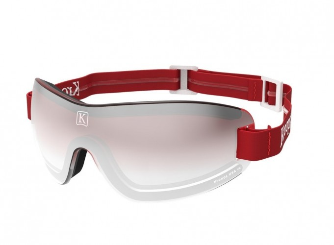 Red gradient mirror lens with red strap