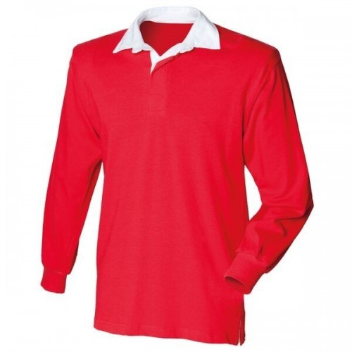 Red Ladies Rugby Shirt
