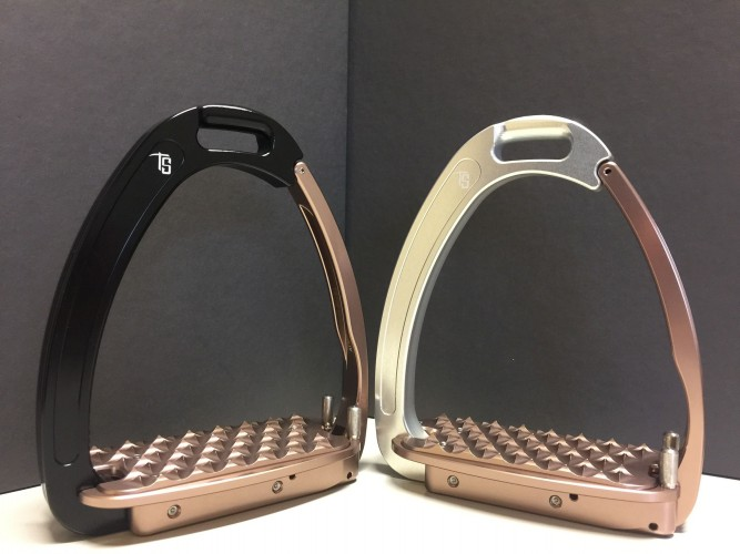 Black/ Rose Gold and Silver/Rose Gold Venice Stirrups