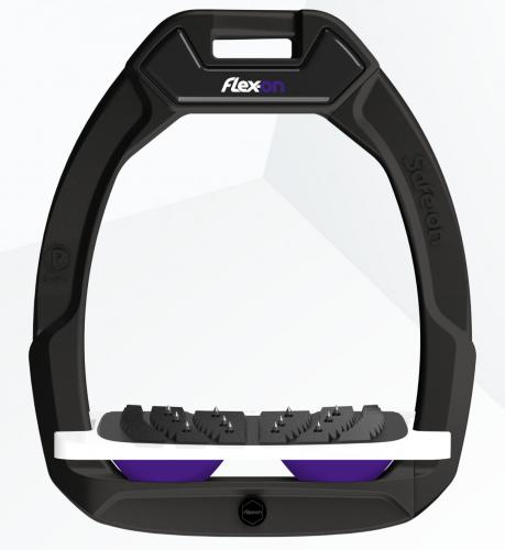 Flex-on Safe-on Black Purple elastomers.