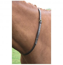 Shires Neck Strap in havana brown.