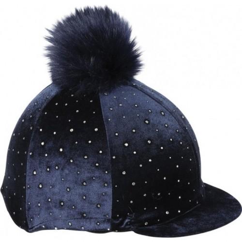 Navy Velvet Sparkle Hat cover