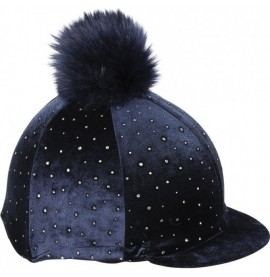 Navy Velvet Sparkle Hat cover