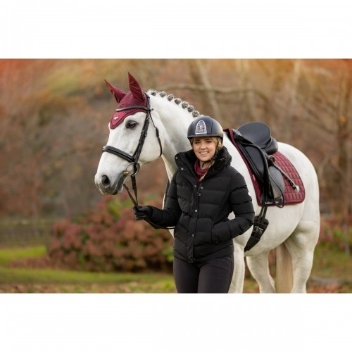 Black Short Coat. Horse is wearing the AW21 Rioja Loire Set