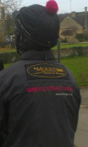 Example of embroidery direct on and a patch stitched on jacket.