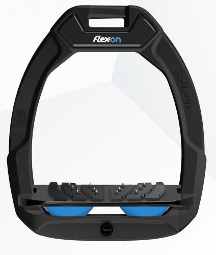 Flex-on Safe-on Black Light Blue elastomers.