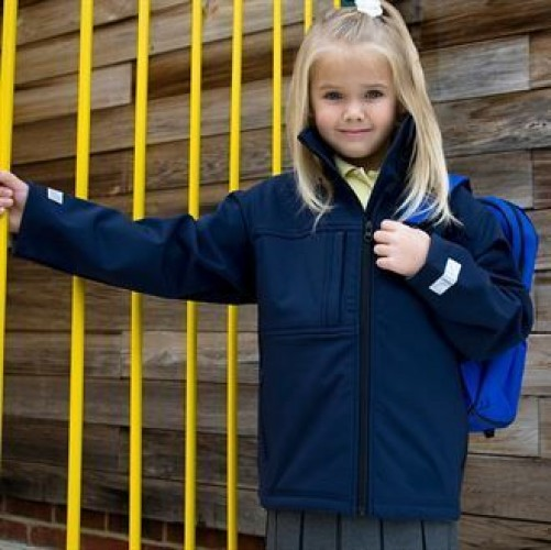 The Junior Softshell Jacket in navy