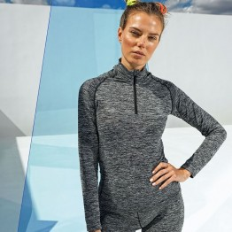 Women's seamless Performance Zip Top