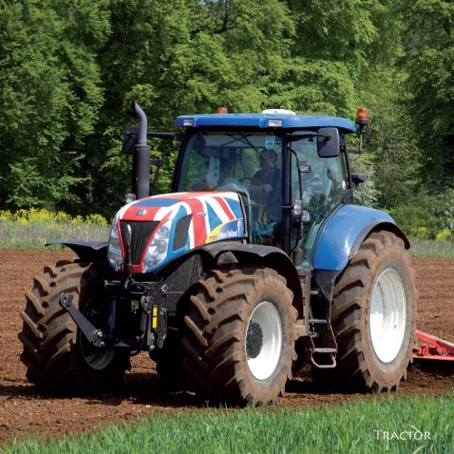 Tractor with Union Jack