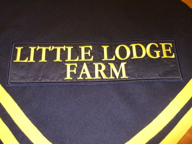 Paddock sheet patch with velcro fastenings.