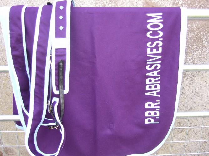 Purple and light blue Superior Melton Paddock Sheet & Roller.