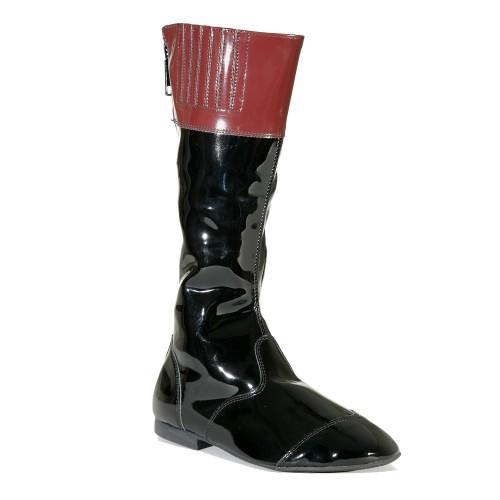 Balck/Maroon Malton Childrens Jockey Boots