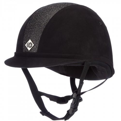 YR8 Black Sparkly Charles Owen Hat